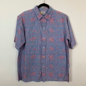 Reyn spooner xl cotton floral casual button down